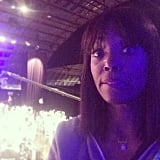 """Host Aisha Tyler snapped a picture during rehearsals, joking, """"I'm not nervous. Shut up."""" Source: Instagram user aishatyler"""
