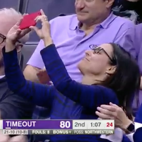 Julia Louis-Dreyfus Watching Her Son Play Basketball 2017
