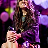 Nikki Reed smiled from the stage.