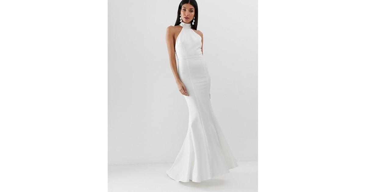 5691254ea5cc Jarlo Tall High Neck Trophy Maxi Dress | Cheap ASOS Wedding Dresses ...