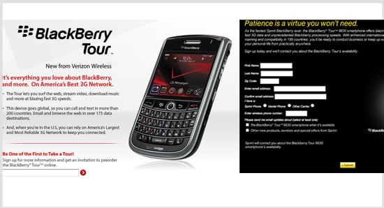 The BlackBerry Tour Comes to Verizon and Sprint Networks