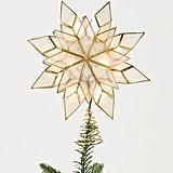 Illuminated Capiz Star Tree Topper