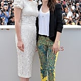 Kristen Stewart and Kirsten Dunst linked up for the On the Road photocall at the Cannes Film Festival.