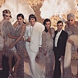 The ladies looked unbelievably stylish in their coordinated Gatsby outfits.