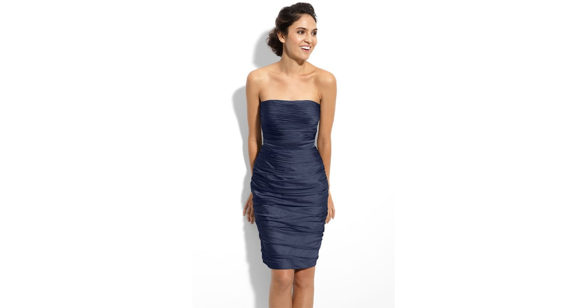 This Ml Monique Lhuillier Ruched Strapless Cationic