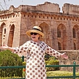 Hillary's White Printed Caftan