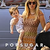 In April 2013, Sienna Miller carried Marlowe Sturridge during a playdate in NYC.