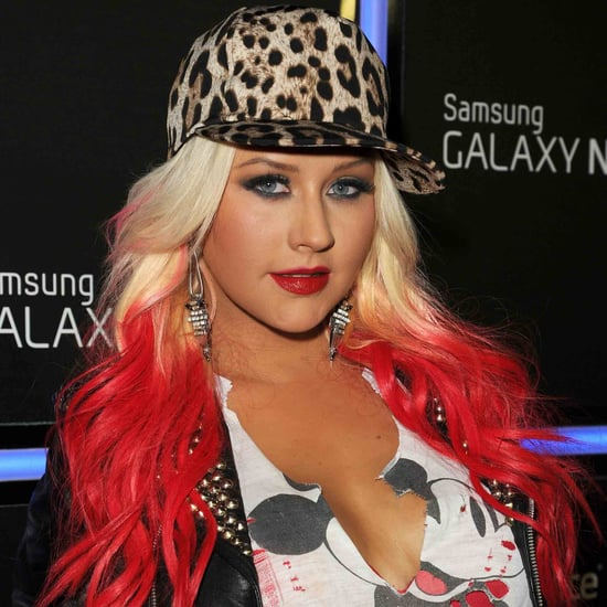 Christina Aguilera's Bright Hair Color