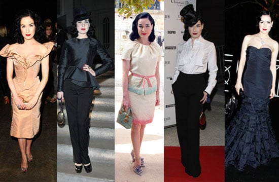 Which Dita von Teese Fashion Week Look Is Most Fab?