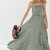 Auguste The Label Gingham Panelled Maxi Dress