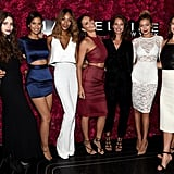 Gigi posed with her Maybelline crew, including Jourdan Dunn, Adriana Lima, and Christy Turlington, at the Fashion Week party.
