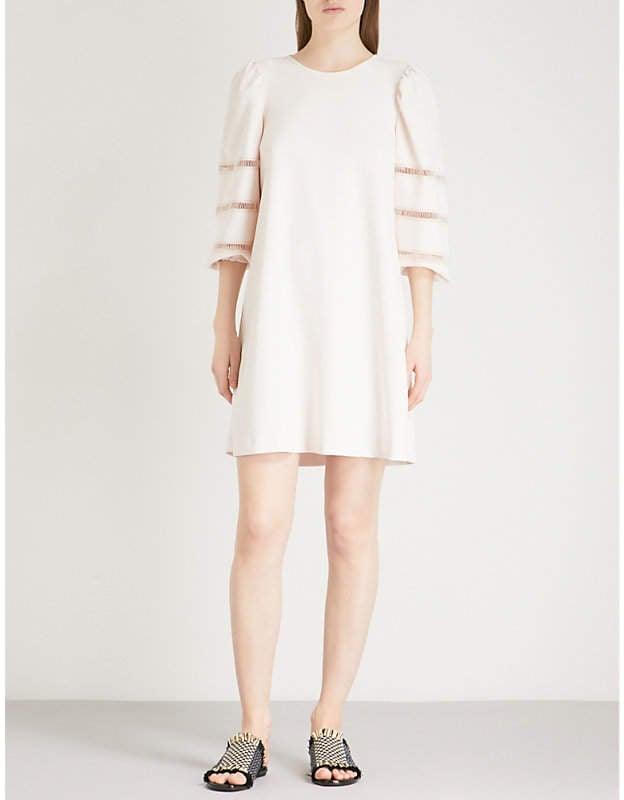 See by Chloé Embellished crepe cotton dress