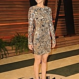Jennifer Lawrence went metallic.