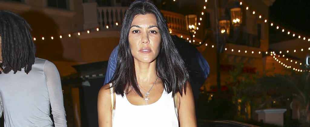 Kourtney Kardashian's White Ribbed Minidress