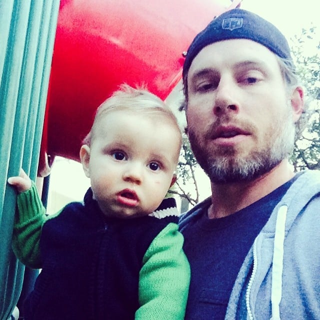 Ace Johnson and proud dad Eric spent some time on the playground. Source: Instagram user jessicasimpson