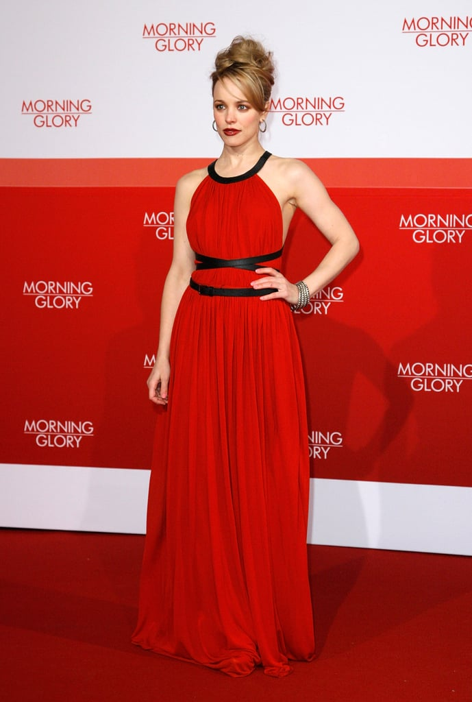 Rachel McAdams Makes a Bold Statement in Red For the Berlin Morning Glory Premiere