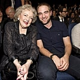 Robert Pattinson and Betty White sat side by side in 2012.