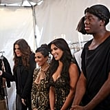 The Kardashian sisters collaborated with J. Alexander when judging the girls.  Photo courtesy of CW