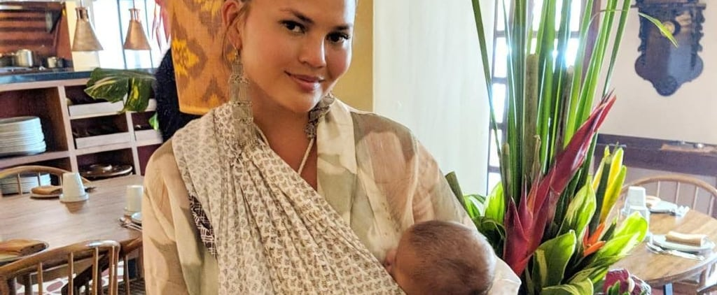 Chrissy Teigen Balinese Sling Photo With Son Miles