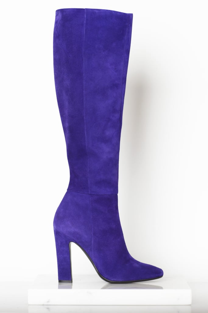 Why Not Suede Knee High Boot in Purple ($1,295) Photo courtesy of Tamara Mellon