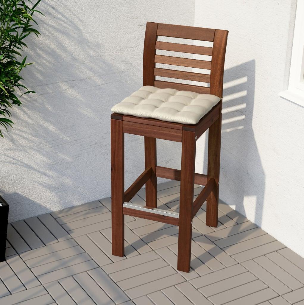 Äpplarö Bar Stool With Backrest