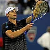 Andy Roddick waved to fans at the US Open.