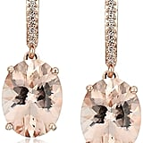 Rose Gold Morganite and Diamond Accented Drop Earrings