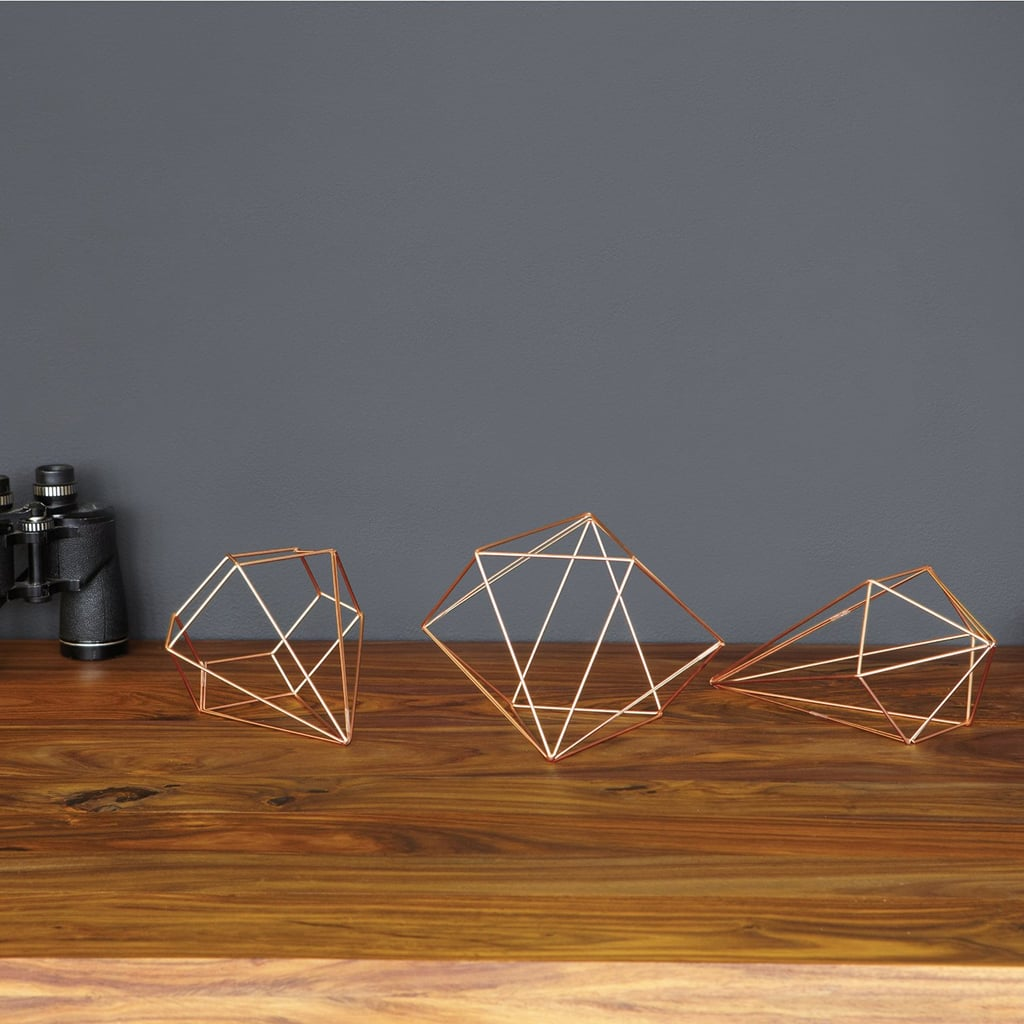 Brass Prism Wall Decor ($30 for set of 6)