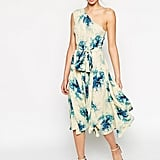 ASOS Premium one shoulder midi dress in porcelain flower print (£42)