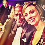 Stacy Keibler sat next to Sidney Poitier at an event. Source: Instagram user stacykeibler