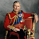 Prince Charles looked at ease in the portrait commissioned for his 60th birthday. The relaxed demeanor contrasted with the formal uniform.  Source: Photo courtesy of The British Monarchy