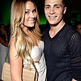 Lauren Conrad posed with a friend inside the HTC party.