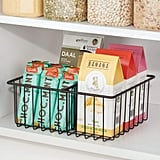mDesign Metal Kitchen Food Storage Container Lid Holder