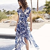 Eliza J Floral Ruffle Maxi Dress