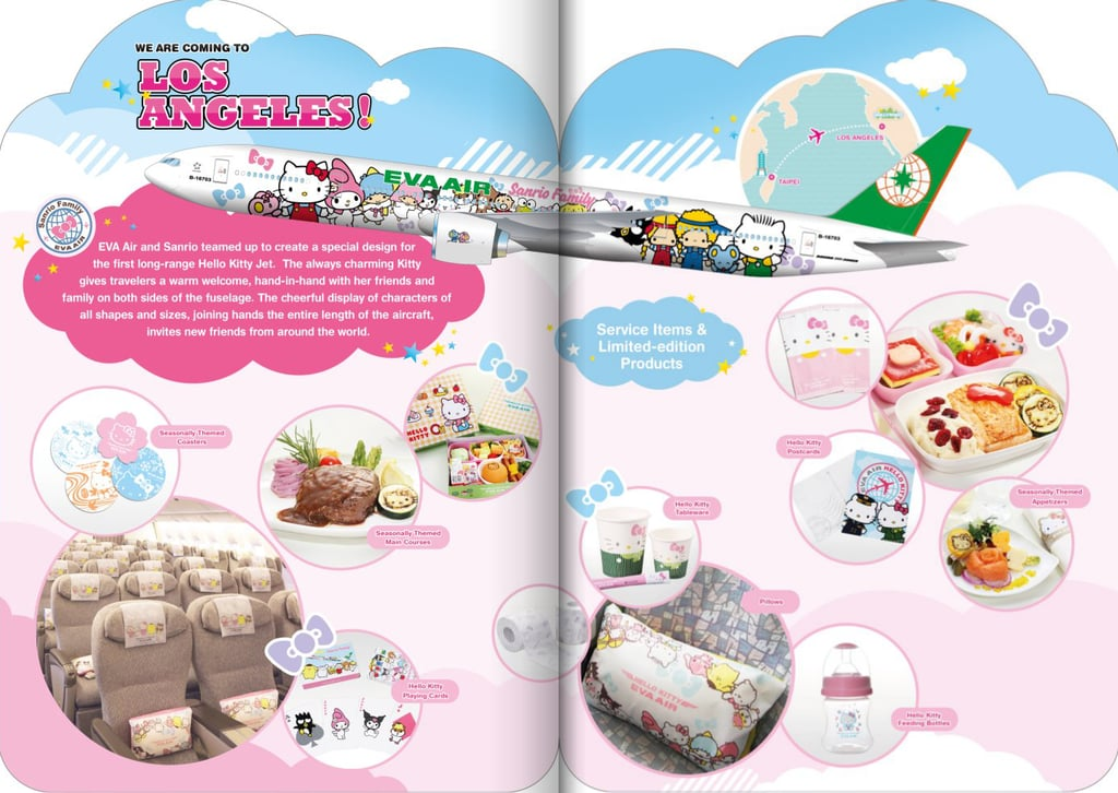 EVA Airs Brochure For The Hello Kitty Flight Experience Reflects Adorable Fun That Passengers Aboard
