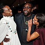 Pictured: Kiki Layne, Brian Tyree Henry, and Regina King