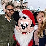 Blake Lively and Ryan Reynolds at Disneyland December 2016