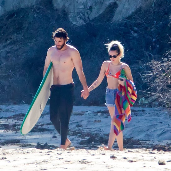 Miley Cyrus and Liam Hemsworth on the Beach in Malibu 2017