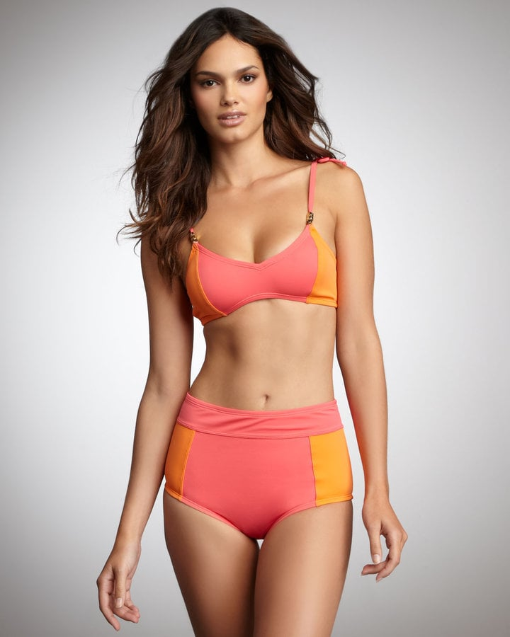 This retro-style swimsuit is perfect for fuller figures, and we love the sorbet-inspired color combo.  Camilla & Marc Summer High-Waist Bikini ($189)