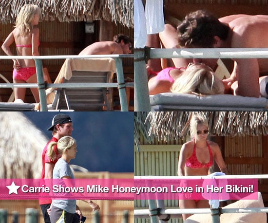 Pictures of Carrie Underwood in Bikini and Mike Fisher on Honeymoon