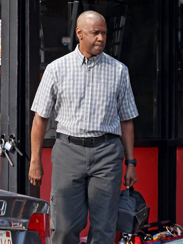 Denzel Washington was shooting scenes for The Equalizer in Chelsea, MA, on Tuesday.