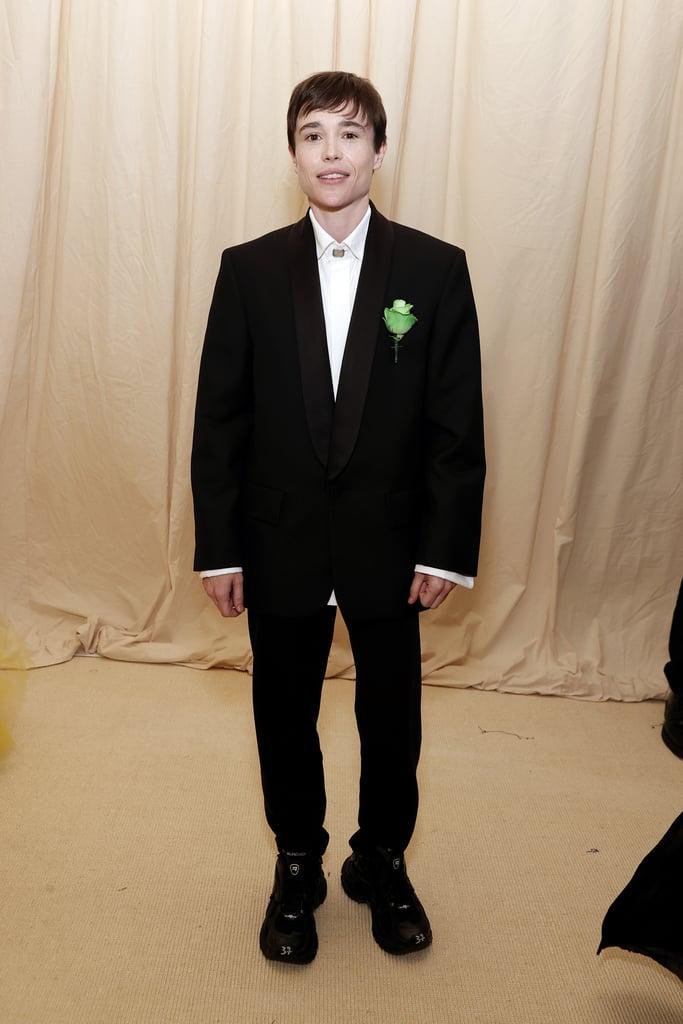 Elliot Page at the 2021 Met Gala