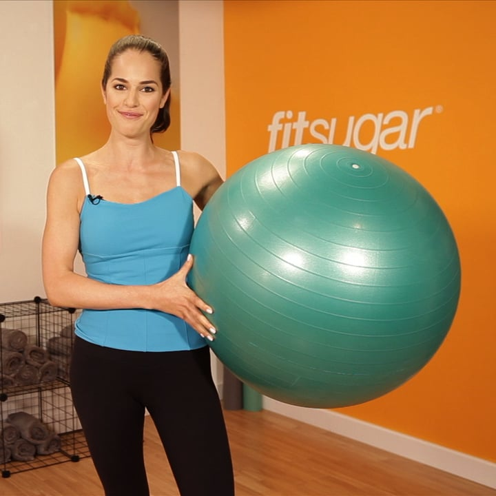 Stability Ball Knee Crunches: Ab Exercise: Tuck Crunch On Exercise Ball