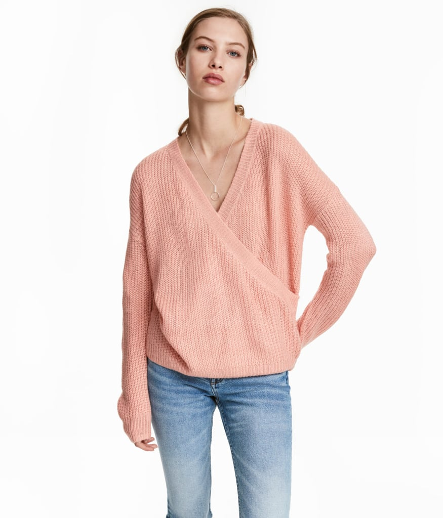 H&M Knit Wrapover Sweater
