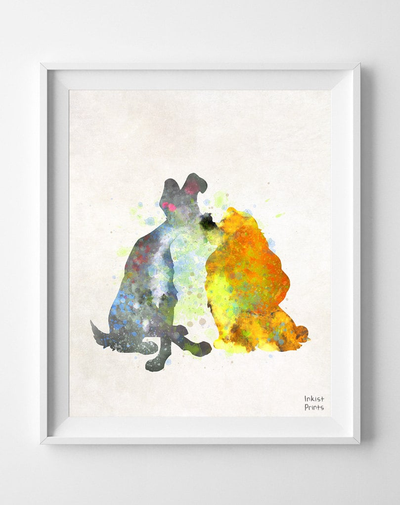 Lady and the Tramp Disney Print  ($11)