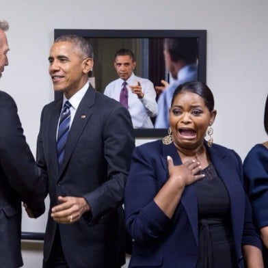 Octavia Spencer and Barack Obama Photo December 2016