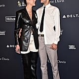 Dua Lipa and Anwar Hadid at Clive Davis's 2020 Pre-Grammy Gala in LA