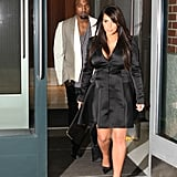 Kim Kardashian and Kanye West had dinner at Babbo after the E! upfronts.
