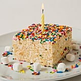 The Crispery It's Your Birthday Cake Rice-Marshmallow Treat With Candle ($5)