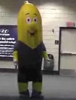 Banana Mascot Scares Passersby